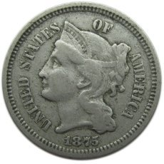 1875 Three Cent Nickel